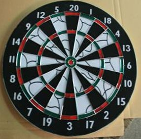 12* Flocked Paper Dartboard